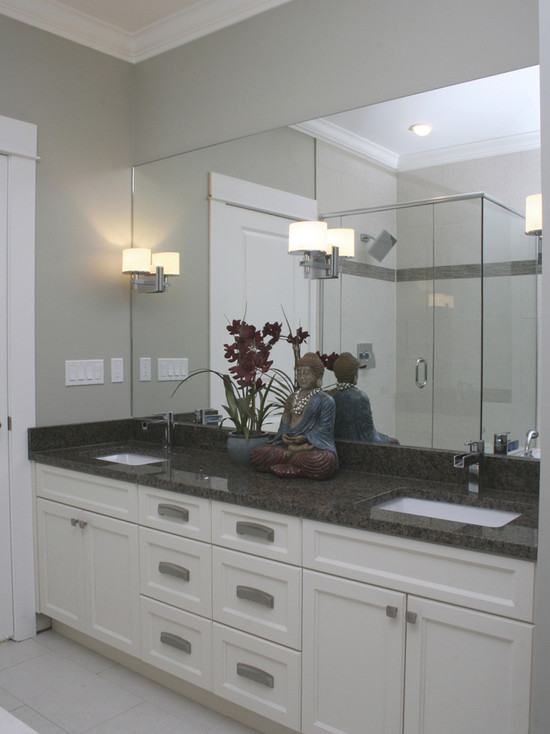 White Bathroom Cabinets With Dark Countertops bathrooms - inspiration gallery « vaughan marble