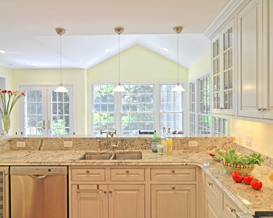Kitchens inspiration gallery vaughan marble for Kitchen with sunroom attached